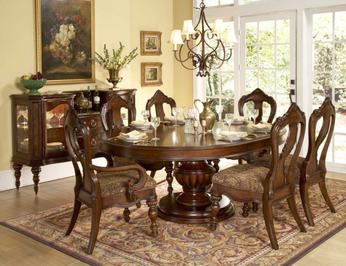Luxury round dining table set design