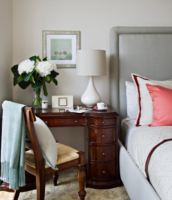 Multi-functional bedside table design