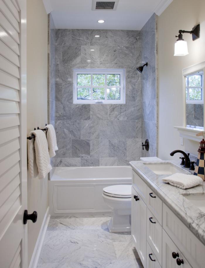 same colour Shower tile and countertop