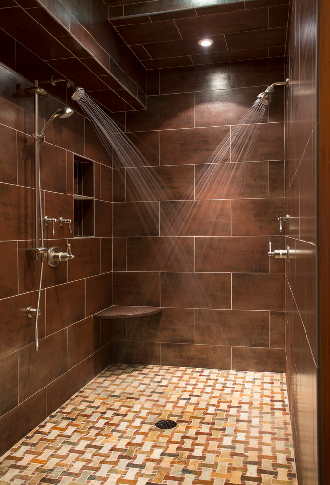 elegant and cool small shower room
