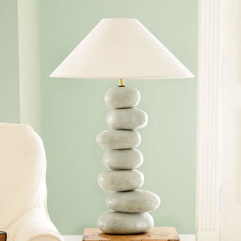 Stone piled Lamp structure