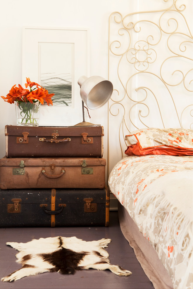 Vintage suitcase  transformed into pull out drawers design