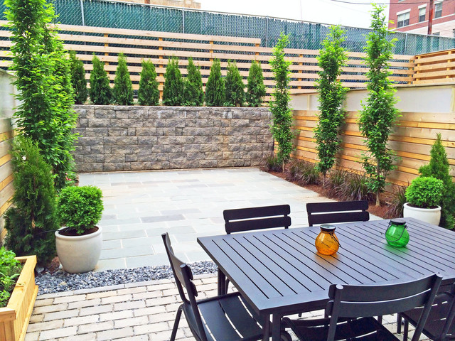 Brooklyn townhouse backyard design
