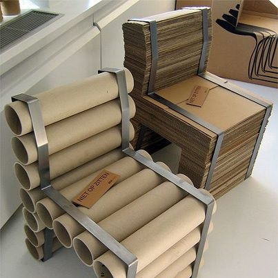 Comfortable cardboard sheets and rolls furniture