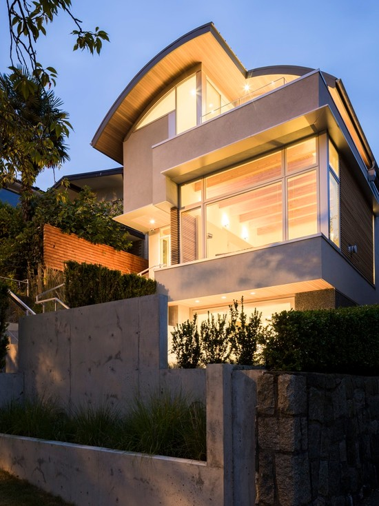 Home exterior with a contemporary feel
