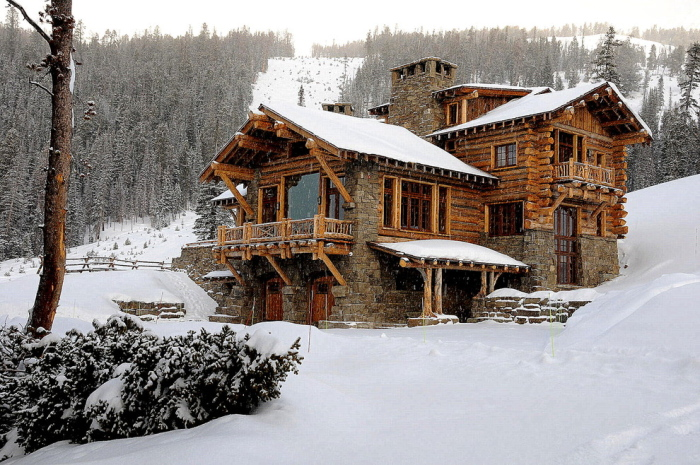 Snow capped house design