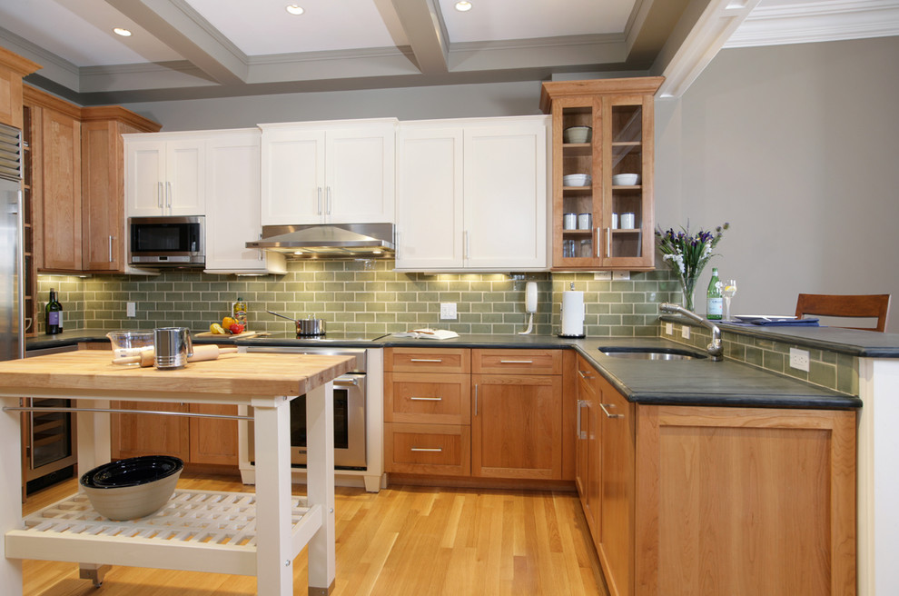 Cherry oak cabinets for the kitchen ideas for Oak kitchen ideas designs