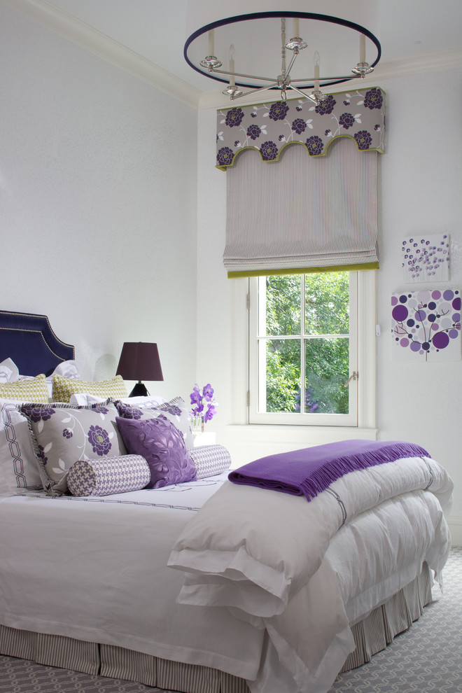 Cool purple and white rooms for Purple and white bedroom designs