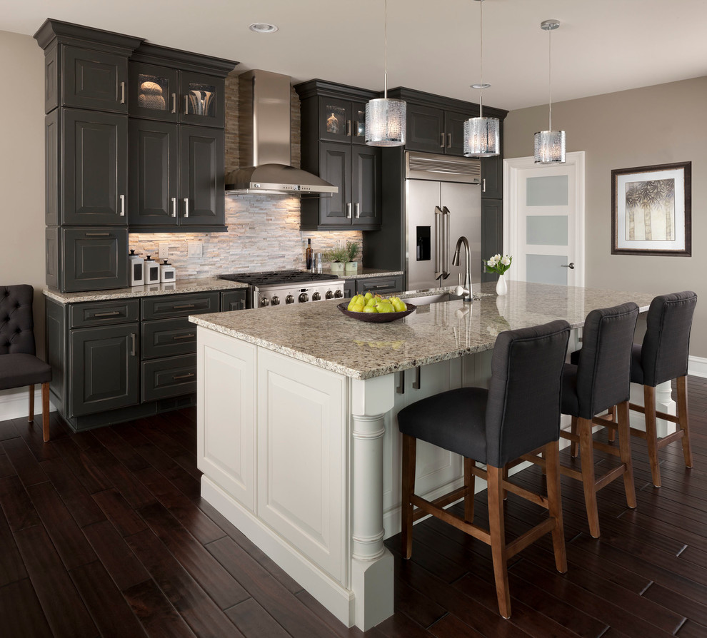 Kitchens With White Cabinets And Black Granite: Cherry Oak Cabinets For The Kitchen Ideas