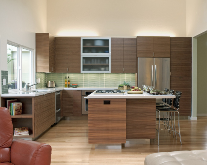 Modern and chic kitchen area