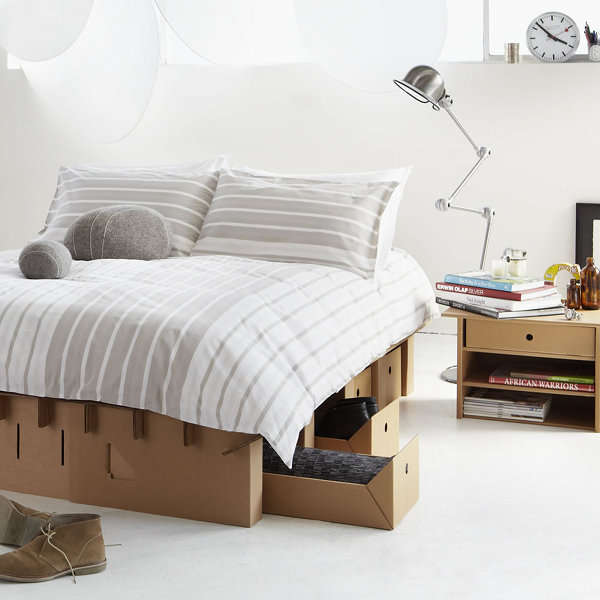 Cardboard bed furniture