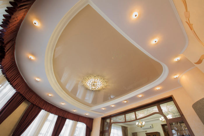 Ceiling has a very dramatic shape