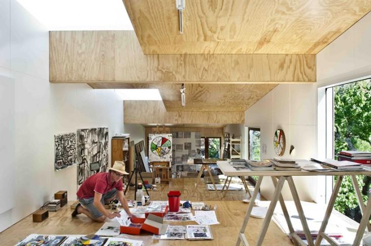 studio artist architect designs cox ashley windows ceiling interior studios architecture walls wood inspiring inspirational lighting attic mccredie paul nz