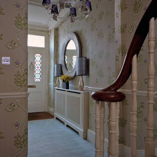Hall makeover with fabulous wallpaper designs for Wallpaper for home entrance