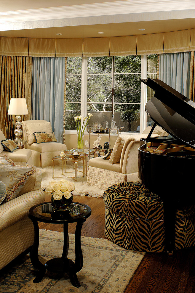 The wild zebra print adds on the dramatic quotient to the Ottoman