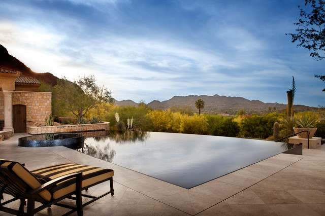 Reflective swimming pool adds on a dramatic edge to the overall ambience