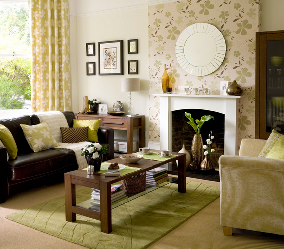 Interior living room ideas to die for for Living room accent wall ideas