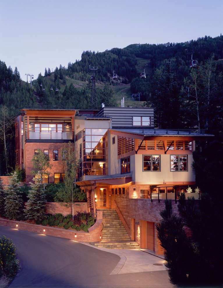 Best modern house designs for The mountain house