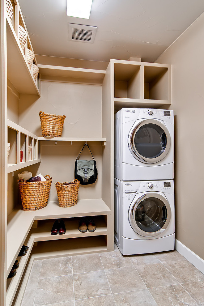 Homemade shoe organizer ideas for Laundry room shelving