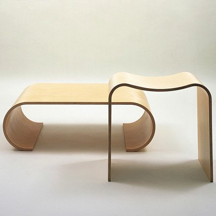 Simple U shaped chairs in different heights