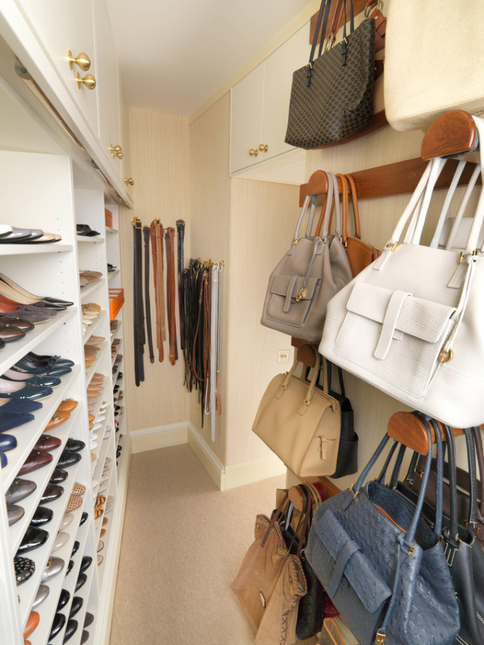 Different layers of shelf can be each used for different kinds of shoes