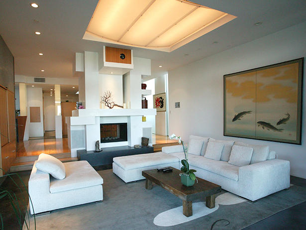 Electric fireplace designs to warm the heart - Contemporary fireplace insert for a warm living room ...