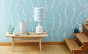 Blue coloured wallpaper design
