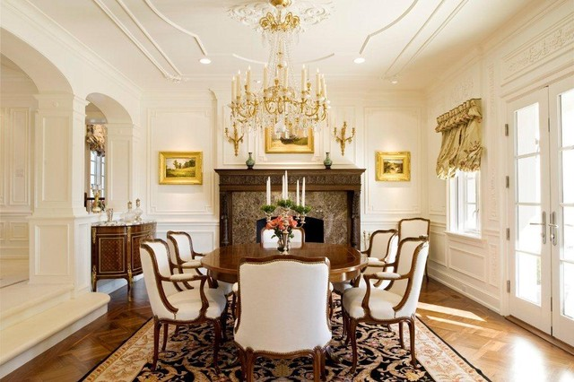 Crown molding sits aptly with the overall lavish pristine Victorian ambience