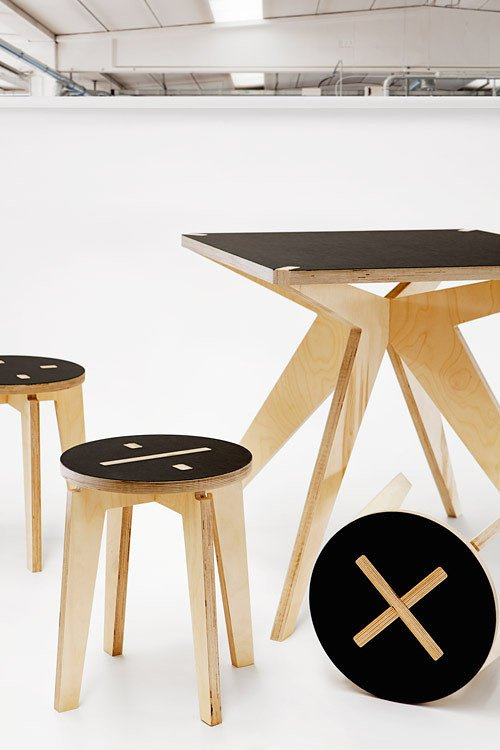 Commonly designed stool with an edge to it