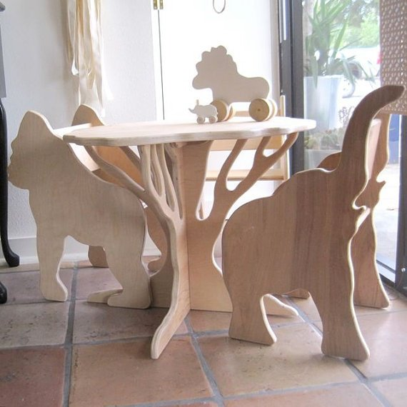 Chairs with different animal shapes