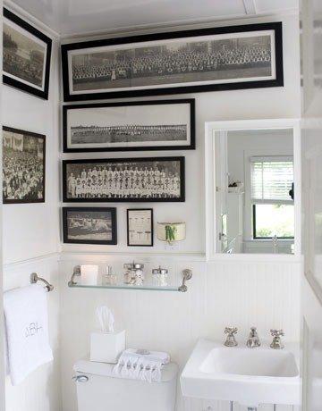 Pure white bathroom design