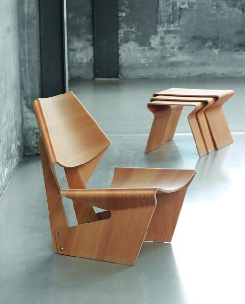 Plywood fancily designed chair