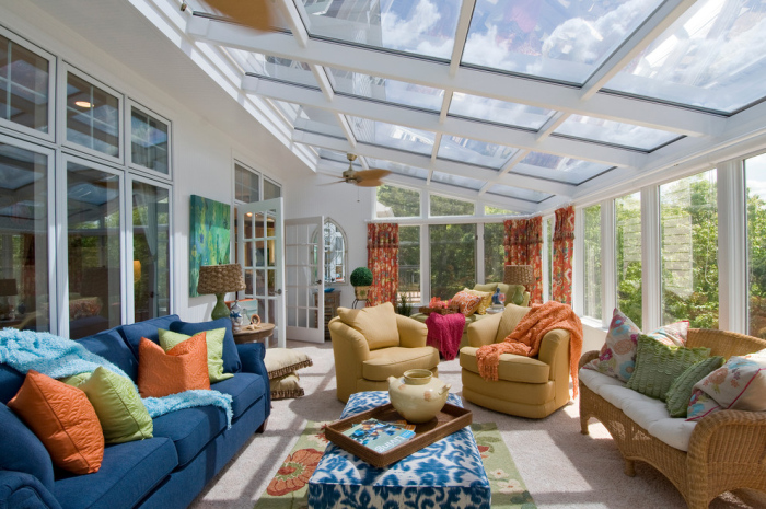 Modern designs function as a sun room