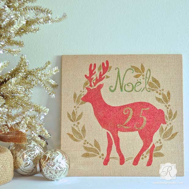 Red and golden Christmas decoratios