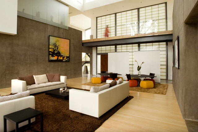 Living area with double walls