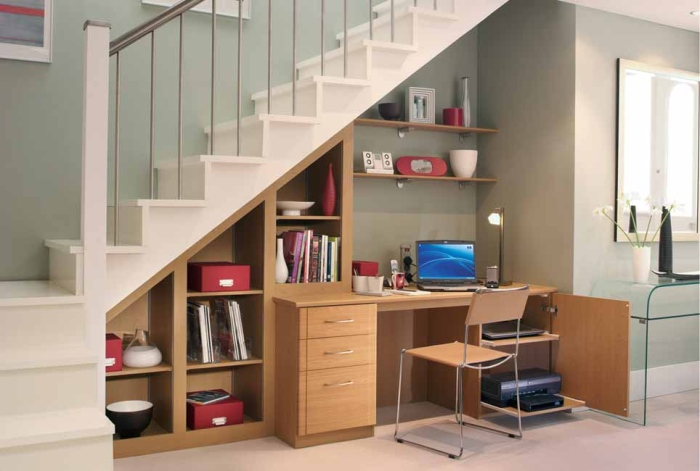 Space saving home office design