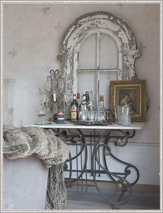 Antiques and vintage style old window