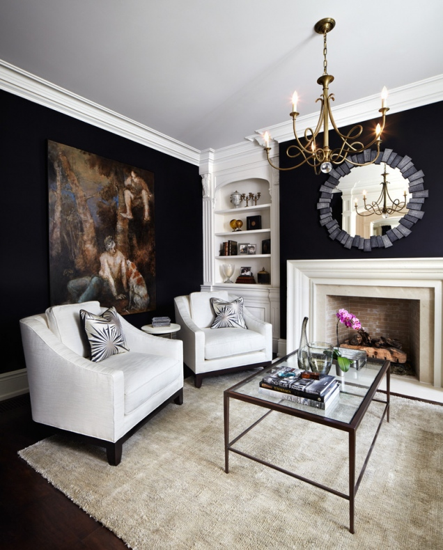 Charming bold black wall paint
