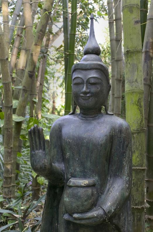 Buddhist statue of black ivory design