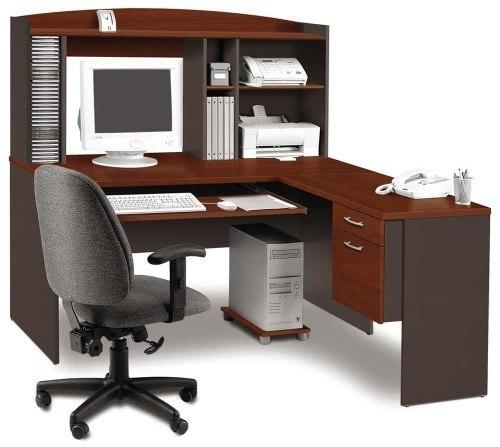 Mahogany wood computer table