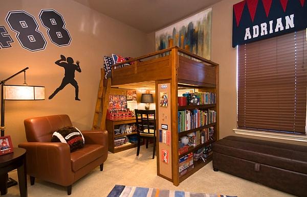 Great loft bed & desk combo