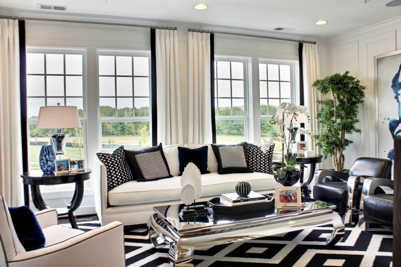 Black and white living room decoration for Black n white living room