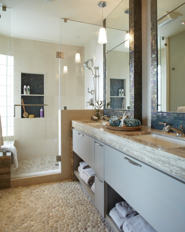 Bathroom with a granite table