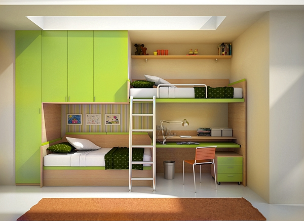 Great loft bed and desk combo for two kids