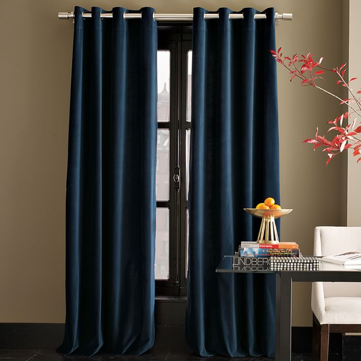 Flatbed Curtain Side Trailers Navy Blue Velvet Fabric