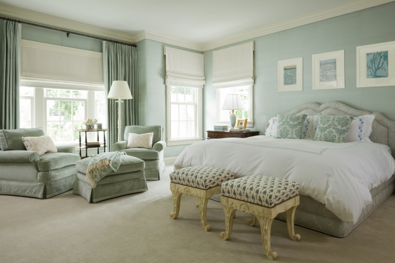 Light green-grey wall paint
