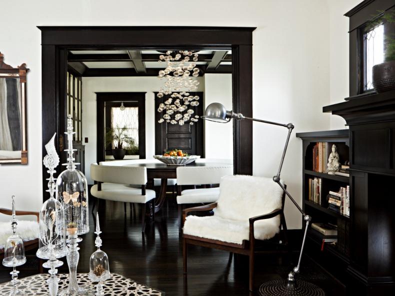 Black furniture in a white background