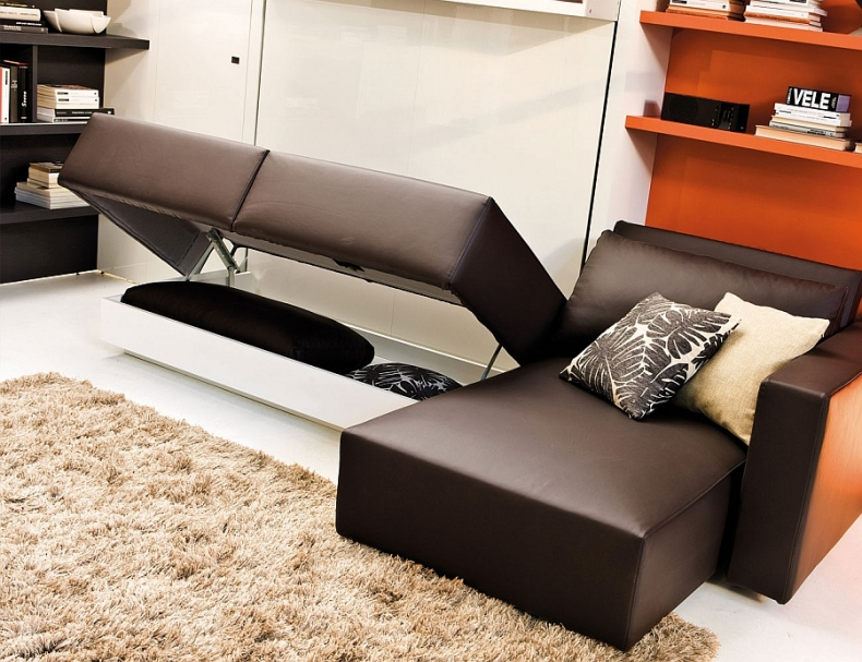 The bed and couch system are perfect for the modern bachelor pad