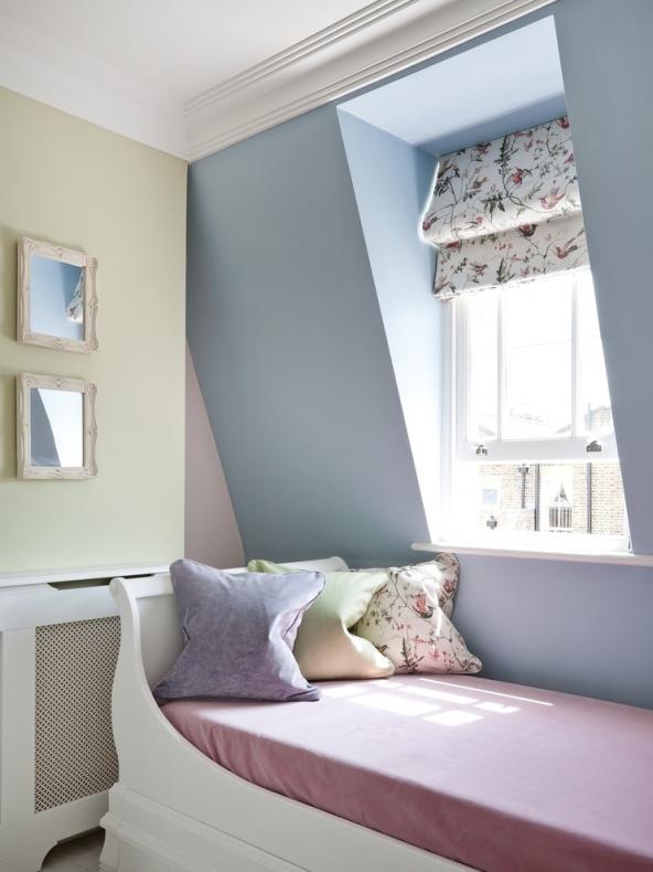 Elegant flat roof dormer interior