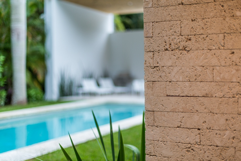 wall besides swimming pool